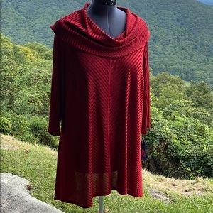 NWT Peter Nygard Knit Cowl Tunic 3X
